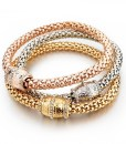 Friendship-Punk-Bracelets-For-Women-Rose-Gold-Plated-Braided-Bracelet-Femme-font-b-Indian-b-font