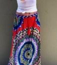 Boho Women Floral Print Elastic maxi skirt