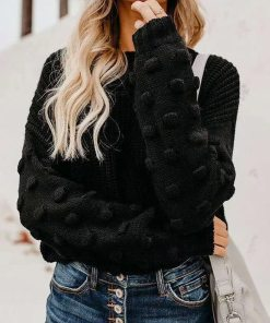 Long Sleeve Solid Oversized Knitted Sweater
