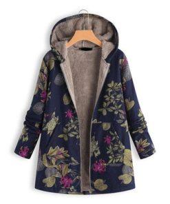 Floral Hooded Vintage Oversized Coats
