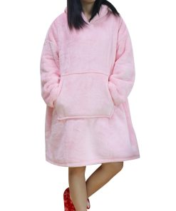 Plaid Winter Fleece Oversized Sweatshirt Hoodie Women