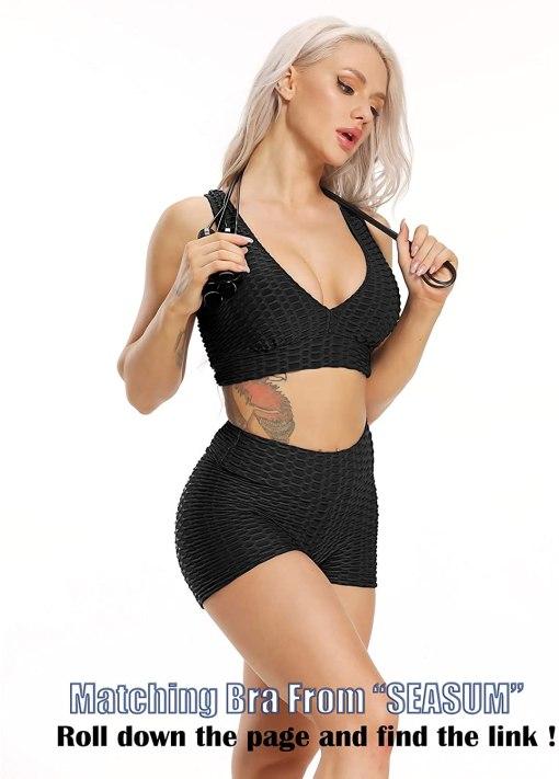 SEASUM Workout Booty Shorts for Women Scrunch Butt Lifting Yoga Short High Waist Sports Lounge Leggings