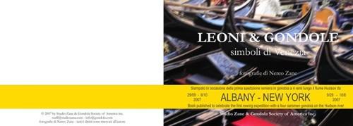 Leoni e gondole -copertina