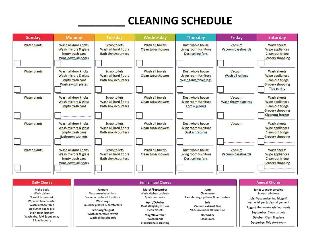 Complete Housekeeping Printable Set Gone Like Rainbows