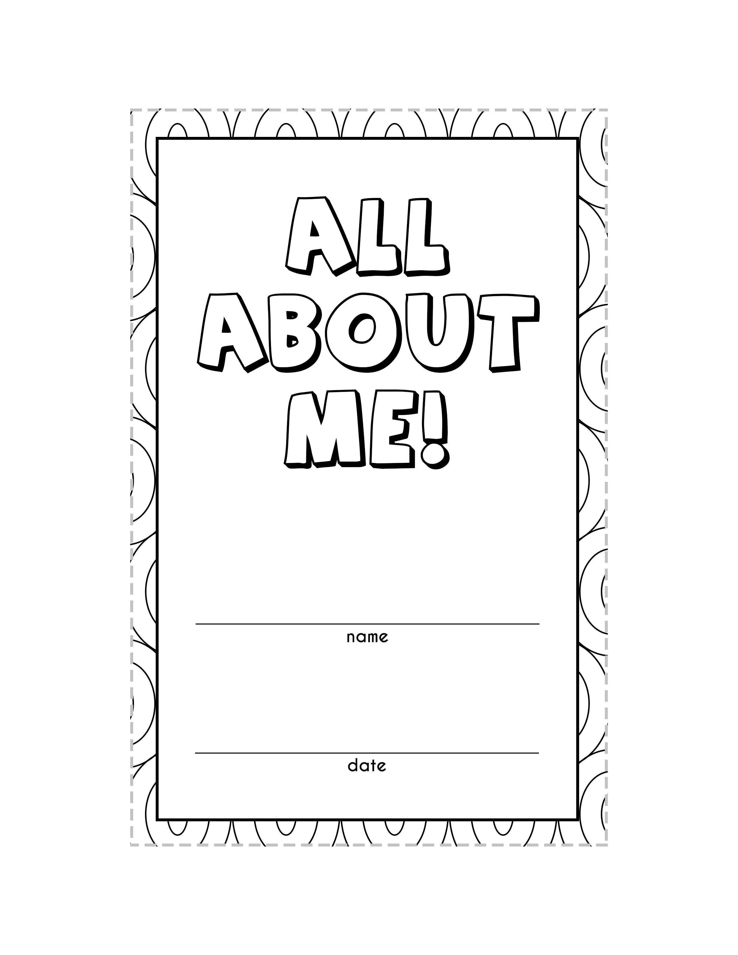 Teacher T Tags Free All About Me Printable Book Updated Gone Like Rainbows