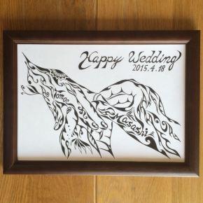 大切な方の結婚祝いに贈る!世界で一つのウェルカムボードにも使える絵のプレゼント!