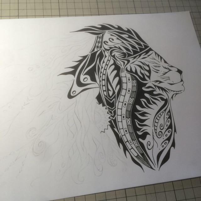ライオン ライオンの絵 ロゴデザイン