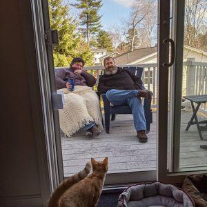 A COVID visit with Bob and Jen #covid19