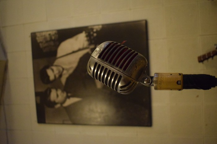 Microphone at the Sun Studios, Memphis