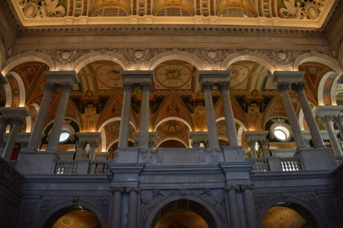 Inside of the Library of Congress