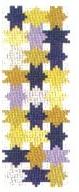 Blue Gold Stars Mezuzah