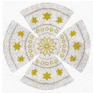 Gold Star Yarmulke