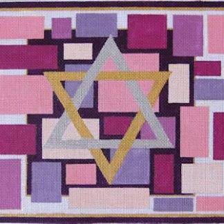 Star of David Tallit in Pink