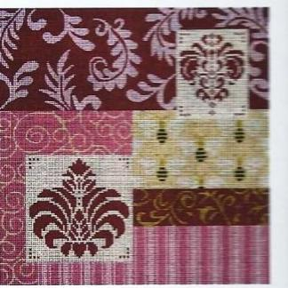 Mauve patch with medallion and bees.