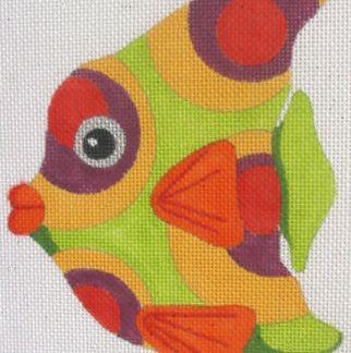 Green and Purple Circles Fish
