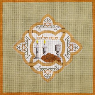 Challah Cover Copper and Olive