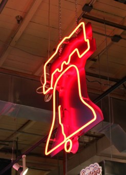 neon Liberty bell