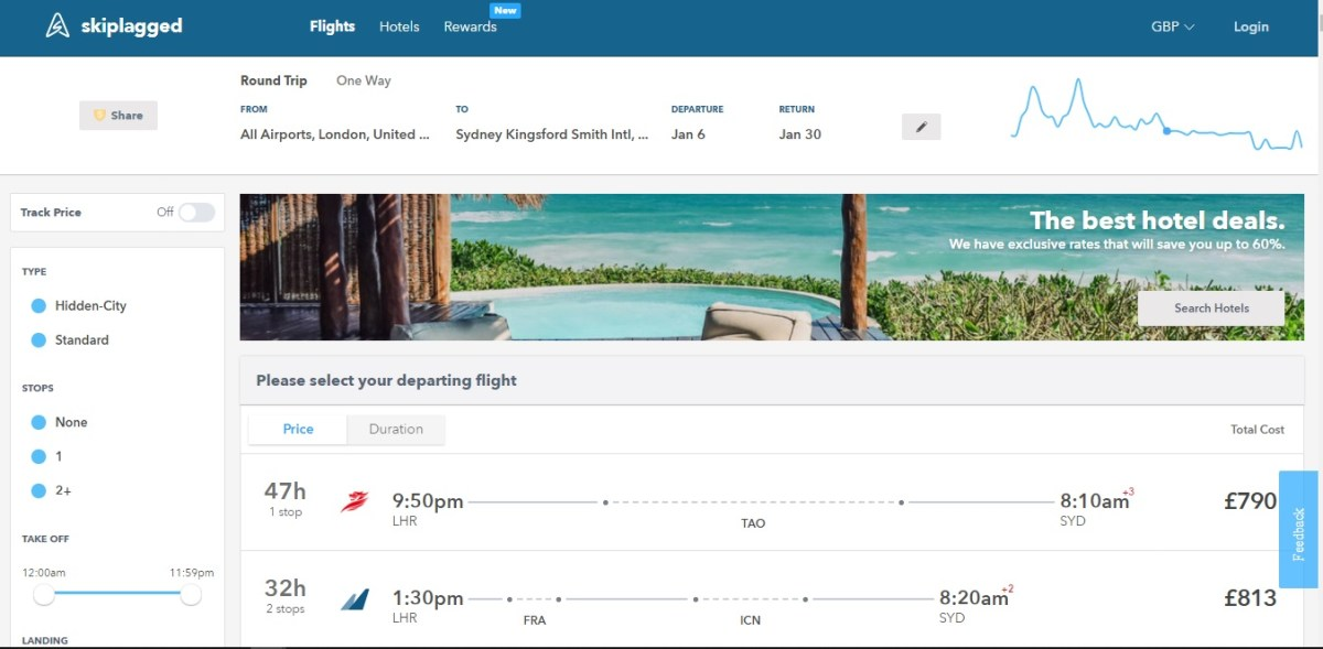 best flight comparison website - might be SkipLagged