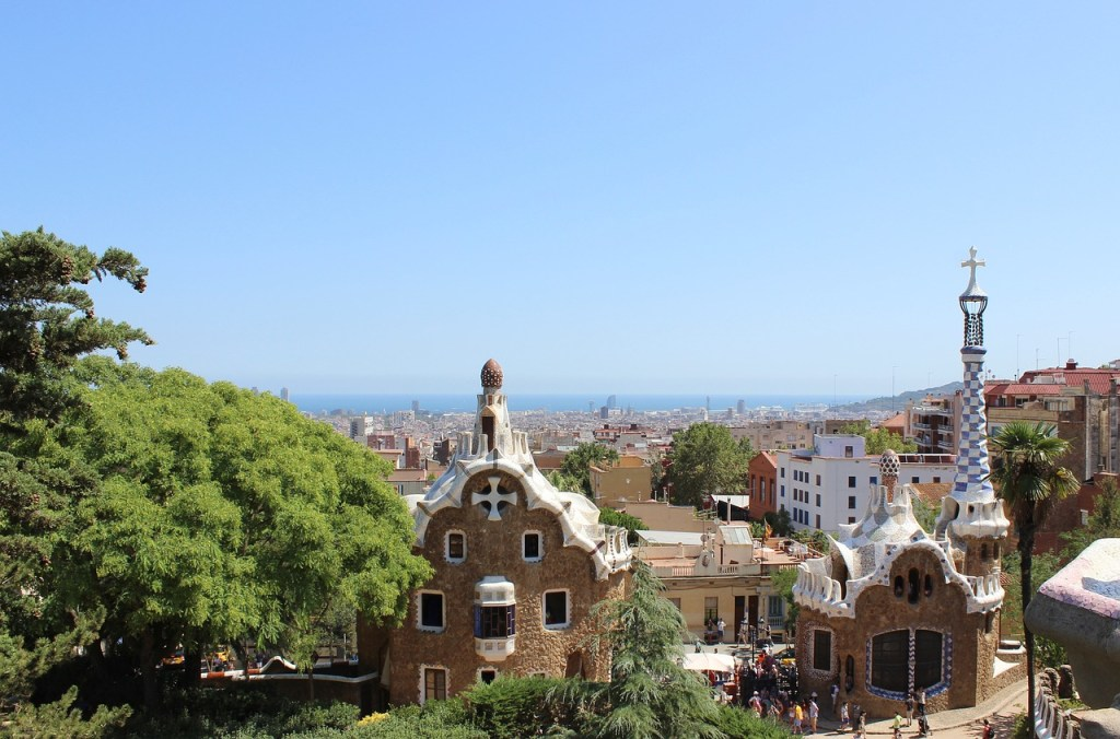 The view from Park Guell in Barcelona