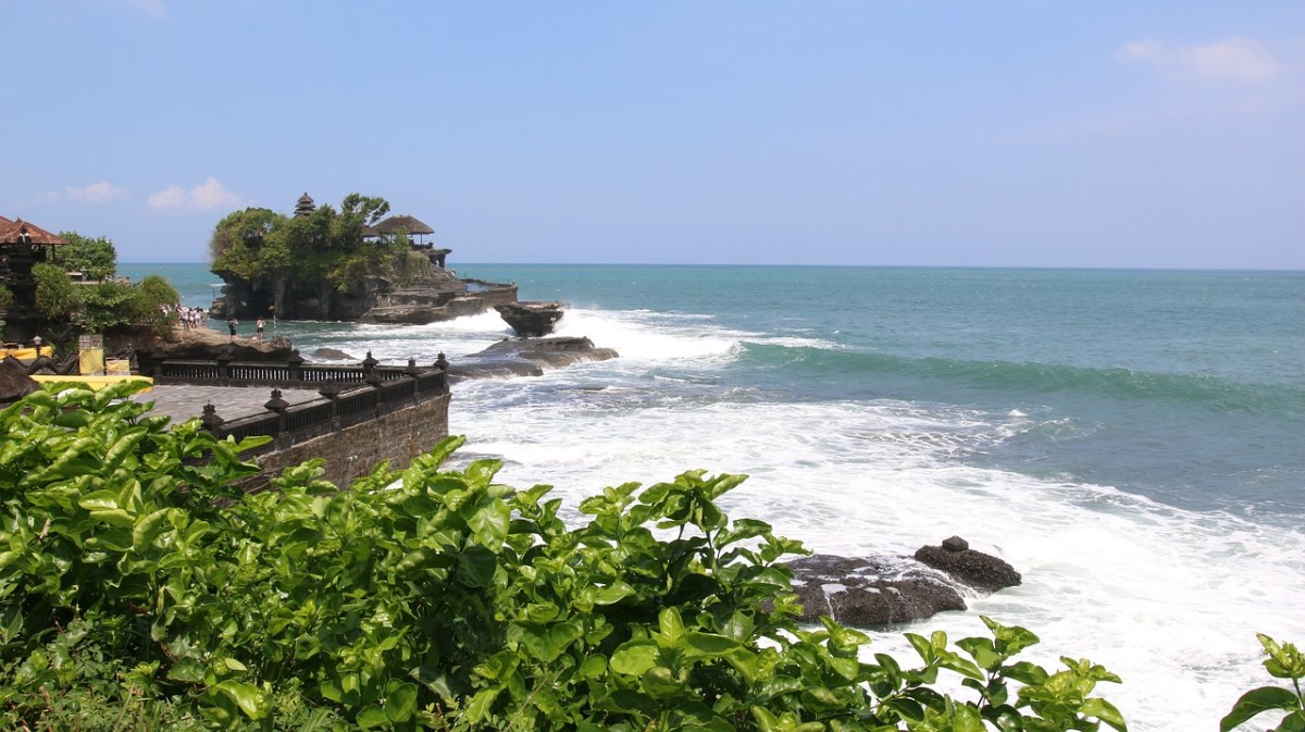 Bali coastline with temple