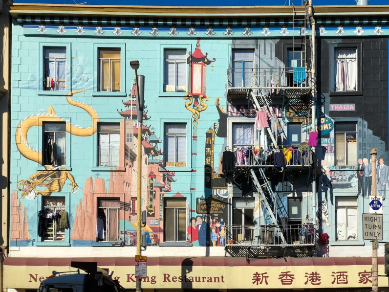 Amazing wall murals with dragons, Chinatown, Gems of San Francisco, USA -- gonewithawhim.com // San Francisco Chinatown