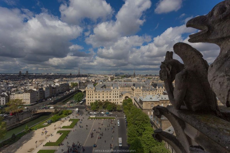 The gargoyles of Notre Dame, Paris, France || Paris in two days, a complete guide and itinerary to the city of lights in France.