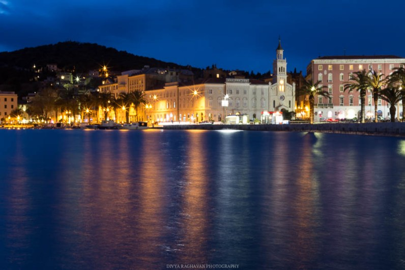 The Split promenade at dusk // Photos and stories from a week in Croatia // Memories from the Balkans // Dubrovnik, Split, and Zagreb
