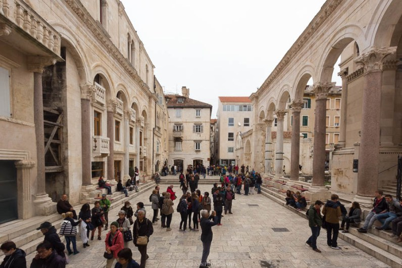 Diocletian's palace at Split // Photos and stories from a week in Croatia // Memories from the Balkans // Dubrovnik, Split, and Zagreb