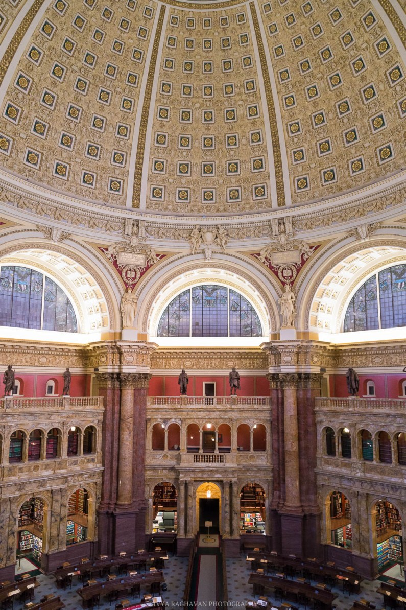 The magnificent Main reading room at the Library of Congress