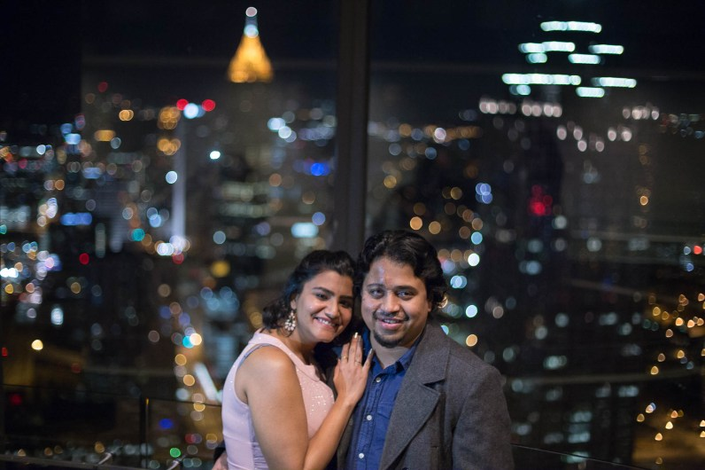Atlanta engagement photographer, Peachtree Westin tower, Atlanta, Georgia