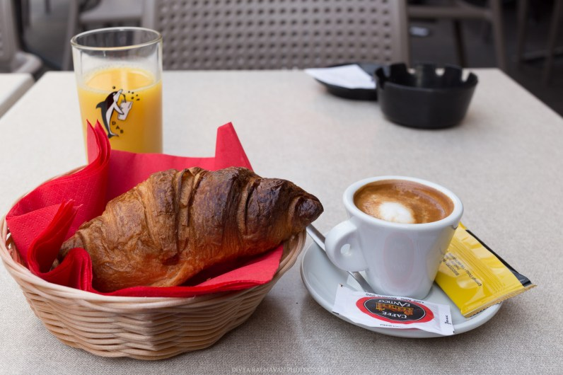 Le petit déjeuner at Cafe Antonio, Place Rosetti    Early mornings in the old town of Nice, South of France-6