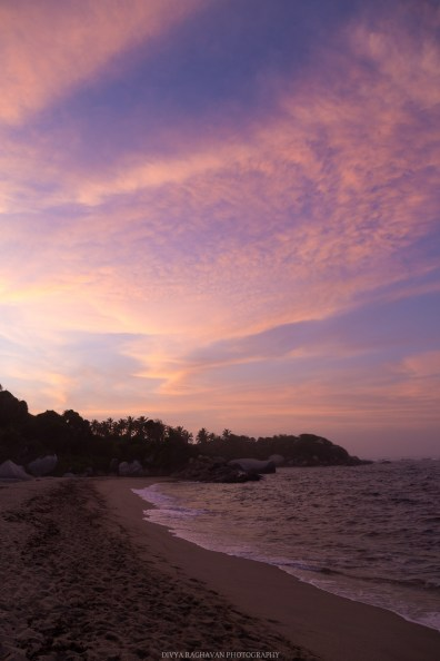 Vibrant sunsets at Tayrona National Park, Santa Marta, Colombia // Photos to inspire you to visit Colombia