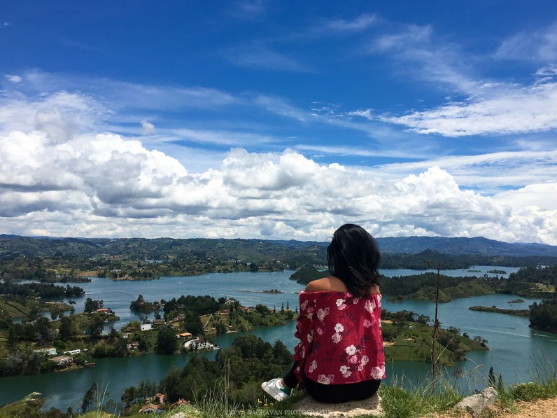 Views from the top of El Pena at Guatape, Colombia, South America -- Photos to inspire you to visit Cartagena -- Gone With a Whim