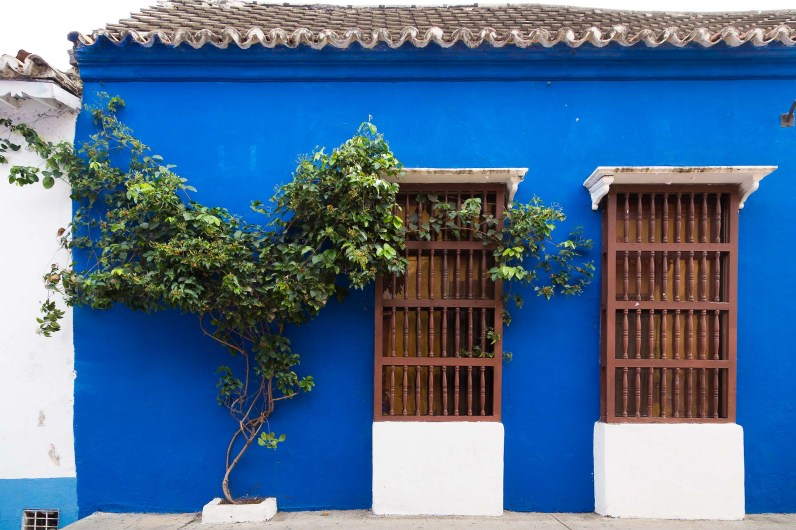 Colorful walls and bougainvillae of Cartagena, Colombia, South America -- Photos to inspire you to visit Cartagena -- Gone With a Whim