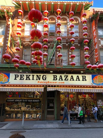 Peking bazaar and lanterns at Chinatown, Gems of San Francisco, USA -- gonewithawhim.com.jpg // Postcards from San Francisco // San Francisco Chinatown