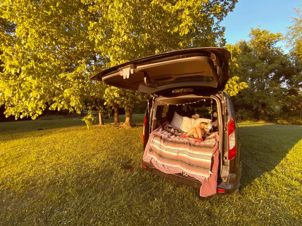 How To: Easy $86 Camper Van Bed Platform