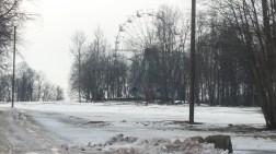A deserted fairground near Turaida