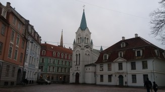 Empty square in the Old Town