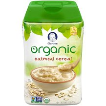Gerber Organic Oatmeal Baby Cereal