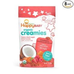 Happy Baby Organic Creamies Freeze-Dried Veggie and Fruit snacks