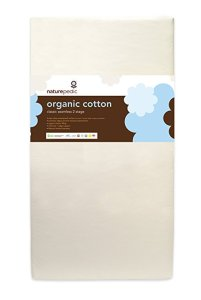 Naturepedic No Compromise Organic Cotton Classic 150 Seamless Dual Firmness Organic Crib Mattress