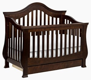 Non-Toxic Crib Million Dollar Baby Classic Ashbury 4-in-1 Convertible With Toddler Rail