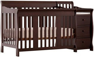 Non-toxic crib Stork Craft Portofino 4-in-1 Fixed Side Convertible Crib and Changer