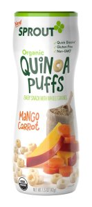 organic baby snacks sprout quinoa puffs