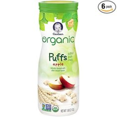 organic baby snacks Gerber Puffs