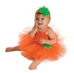 Baby Halloween Costume Pumpkin Tutu