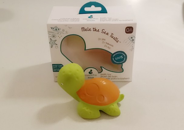 Non-Toxic Bath Toy - CaaOcho Ocean Mele the Sea Turtle Natural Rubber Bath Toy