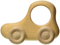 Non-Toxic Holiday Gift - Grimm's Pushing Car Natural Wood Teether
