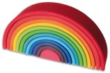Non-Toxic Holiday Gift Ideas - Grimm's Large 12-Piece Rainbow Stacker