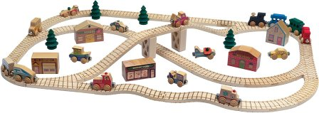 Non-Toxic Holiday Gift Ideas - Maple Landmark NameTrain Town Set